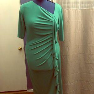 Women green dress